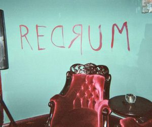 murder, redrum, and red image