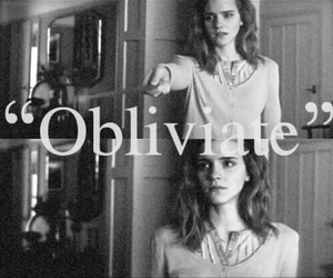 harry potter, obliviate, and emma watson image