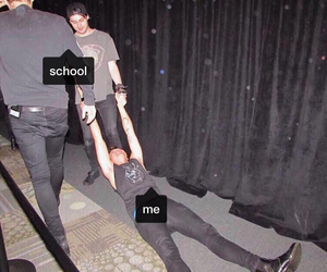bands, funny, and school image