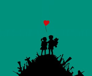 love, BANKSY, and art image