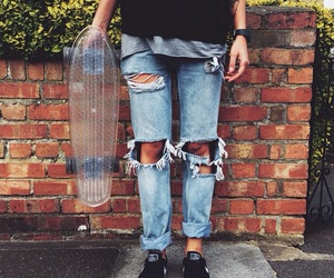 clothing, jeans, and skate image