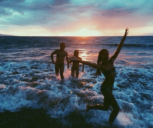 beach, life, and friends image