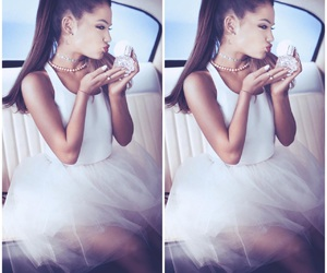 car, dress, and ariana image