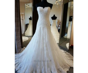 dress, gown, and lace image