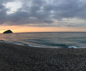 beach, landscape, and liguria image