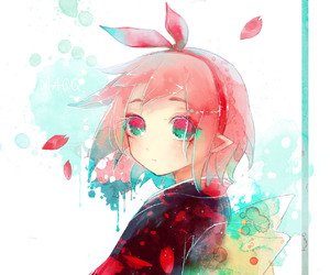 cherry, pink, and pink hair image