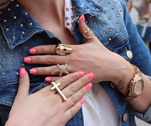 bracelet, chest, and nails image