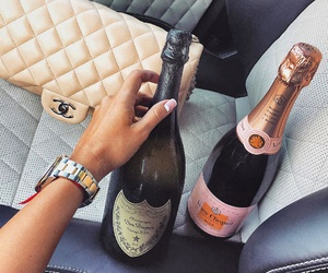 champagne, chanel, and luxury image