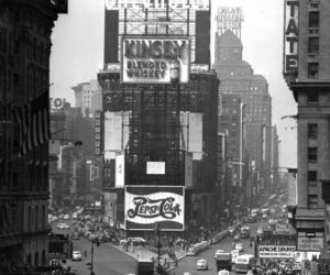 new york, times square, and vintage image