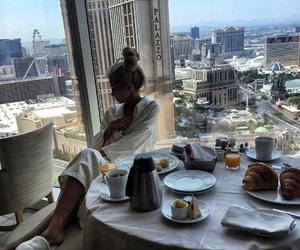 girl, breakfast, and luxury image
