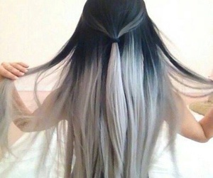 hair, black, and grey image