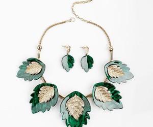 leaf jewelry set, acrylic jewelry sets, and acrylic necklace sets image