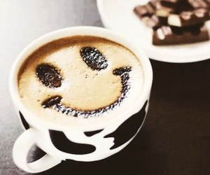 coffee, smile, and breakfast image