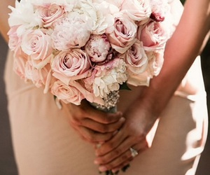 wedding, bouquet, and bridal image