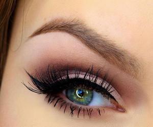 eye, girl, and green image