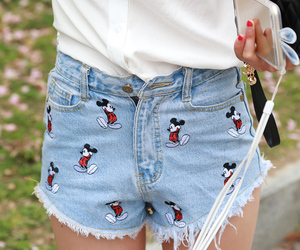 fashion, mickey mouse, and jeans image
