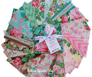 cotton, fabric, and florals image