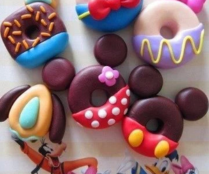 disney, donuts, and food image
