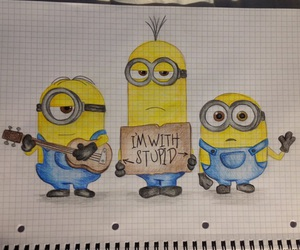 minions, stupid, and art image