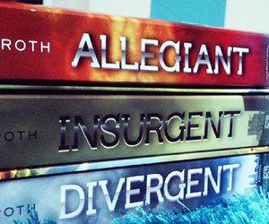 divergent, insurgent, and book image