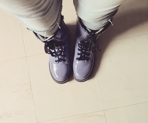 boots, purple, and shoes image