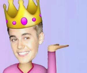 Queen, justin bieber, and emoji image