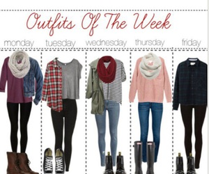 outfit, clothes, and week image