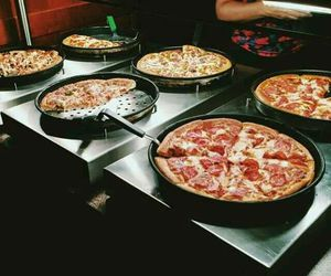food, pizza, and eat image