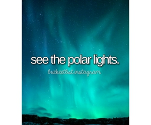 bucket, list, and nothern lights image