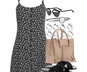 celine, floral, and Polyvore image
