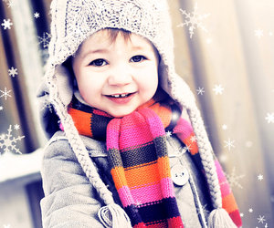 baby, snow, and cute image