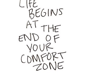 life, quote, and comfort zone image