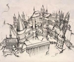 hogwarts, harry potter, and art image