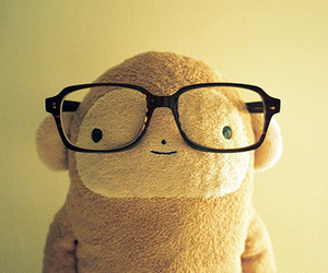glasses, monkey, and cute image