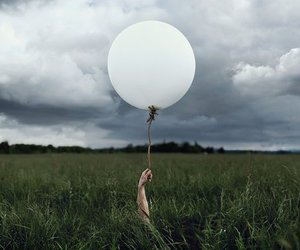balloon, sky, and loneliness image