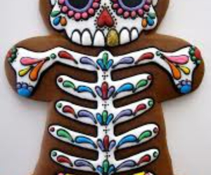 cookie, skull, and food image