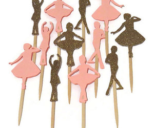 ballet dancers, princess party, and pink and gold image