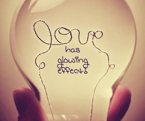 love, quote, and glowing image