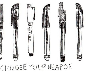pen, weapon, and drawing image