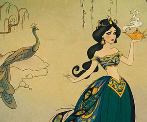 aladdin, disney princess, and jasmine image