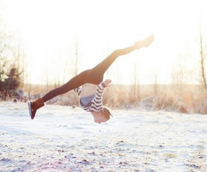 gymnastics and winter image