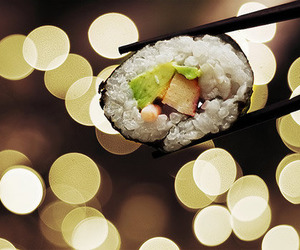 sushi, food, and bokeh image