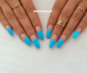 beauty, pretty nails, and coffin nails image