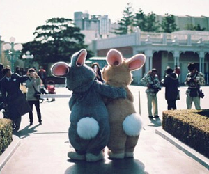 bunny, rabbit, and friends image