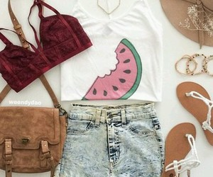 accessories, sandals, and shorts image