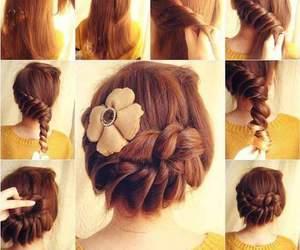 hair, girl, and diy image