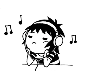 music, doodle time, and sarah andersen image