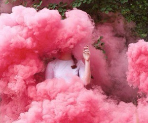 pink, smoke, and aesthetic image