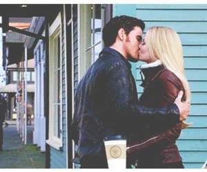 couple, once upon a time, and emma swan image