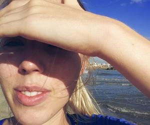 beach, morning, and face image